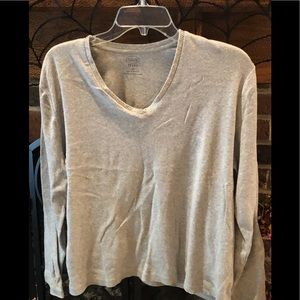 Talbots Sparkle trimmed long-sleeved top